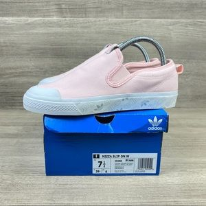 Adidas Originals Nizza Slip-on Shoes Pink White